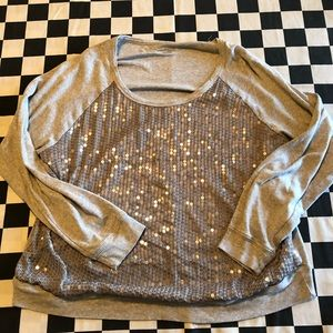 New York & Company Sequins Sweatshirt